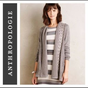 🌵Anthropologie Messina Cardigan Grey Knitted 🌵